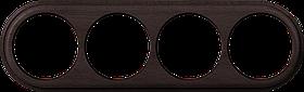 Рамка на 4 поста /WL15-Frame-04 (венге)