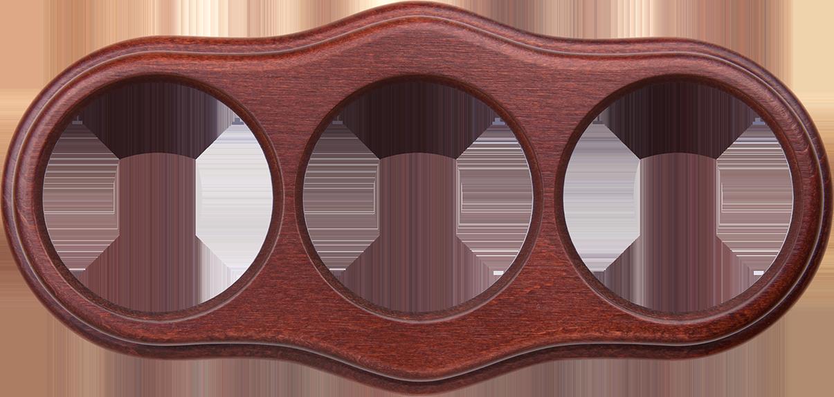 Рамка на 3 поста /WL20-Frame-03 (итальянский орех)