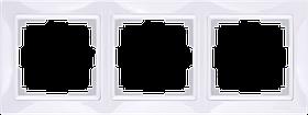 Рамка на 3 поста /WL03-Frame-03 (белый, basic)