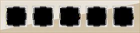 Рамка на 5 постов /WL01-Frame-05 (шампань)