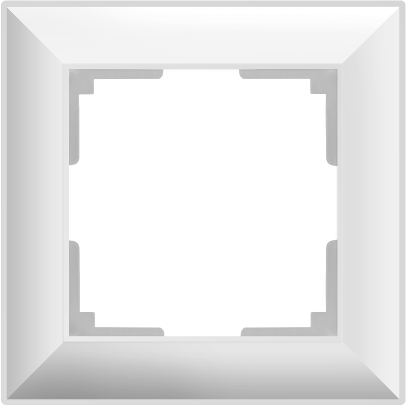 Рамка на 1 пост /WL14-Frame-01 (белый)
