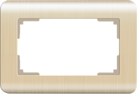 Рамка для двойной розетки /WL12-Frame-01-DBL (шампань)