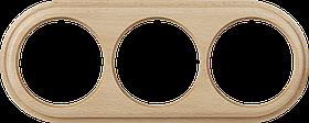 Рамка на 3 поста /WL15-Frame-03 (светлый бук)