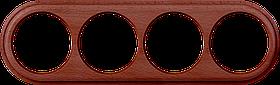Рамка на 4 поста /WL15-Frame-04 (итальянский орех)