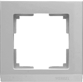 Рамка на 1 пост /WL04-Frame-01 (серебряный)