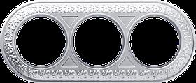Рамка на 3 поста /WL70-Frame-03 (жемчужный)