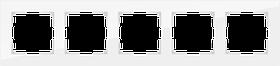 Рамка на 5 постов /WL01-Frame-05 (белый, стекло)