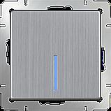 Перекрестный переключатель одноклавишный /WL02-SW-1G-C (глянцевый никель), фото 2