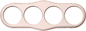 Рамка на 4 поста /WL15-Frame-04 (беленый дуб)