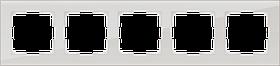 Рамка на 5 постов /WL01-Frame-05 (дымчатый, стекло)