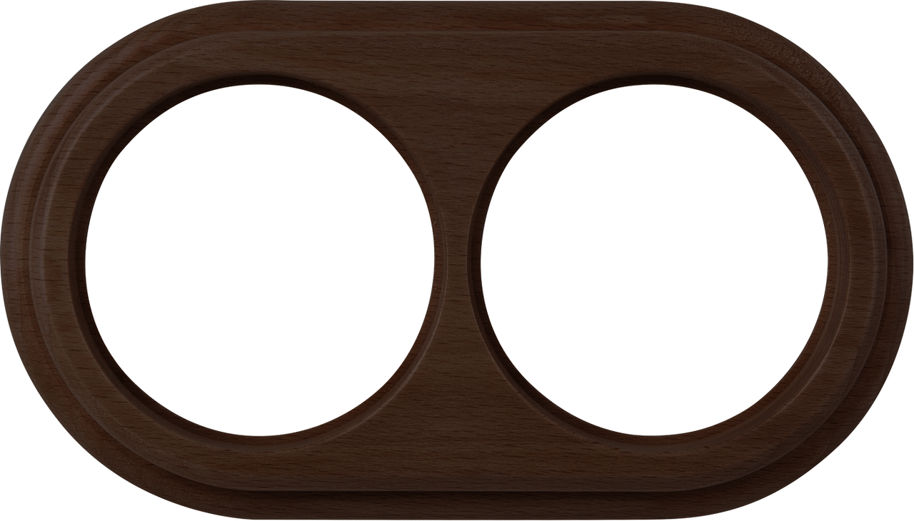 Рамка на 2 поста /WL15-Frame-02 (венге)