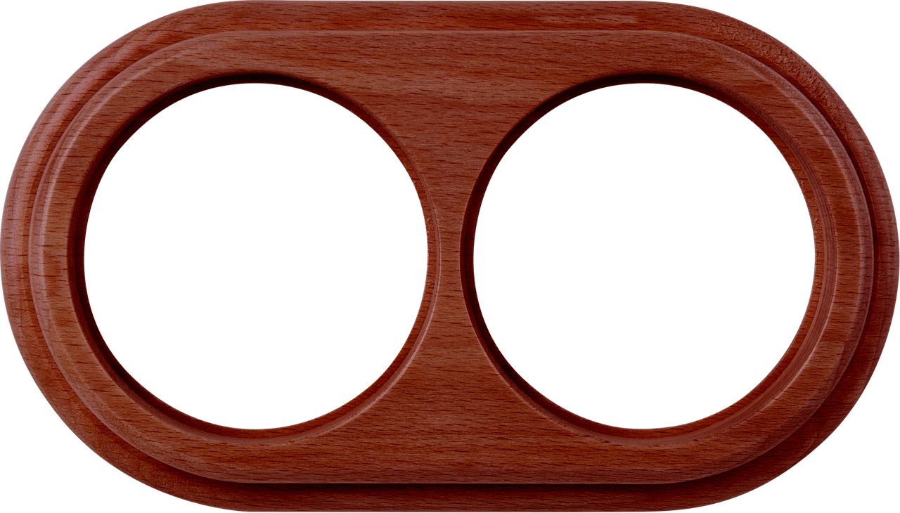 Рамка на 2 поста /WL15-Frame-02 (итальянский орех)