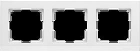 Рамка на 3 поста /WL04-Frame-03-white (белый)