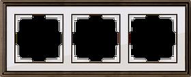 Рамка на 3 поста /WL17-Frame-03 (бронза/белый)