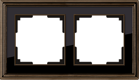 Рамка на 2 поста /WL17-Frame-02 (бронза/черный)
