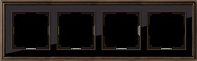 Рамка на 4 поста /WL17-Frame-04 (бронза/черный)