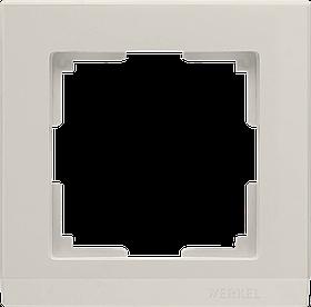 Рамка на 1 пост /WL04-Frame-01-ivory (слоновая кость)