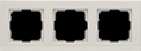 Рамка на 3 поста /WL04-Frame-03-ivory (слоновая кость)