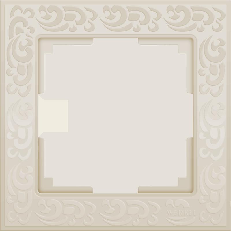 Рамка на 1 пост /WL05-Frame-01-ivory (слоновая кость)