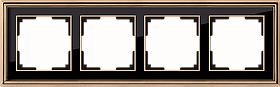 Рамка на 4 поста /WL17-Frame-04 (золото/черный)