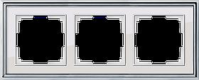 Рамка на 3 поста /WL17-Frame-03 (хром/белый)