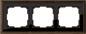 Рамка на 3 поста /WL17-Frame-03 (бронза/черный)