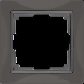 Рамка на 1 пост /WL08-Frame-01 (черный)