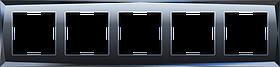 Рамка на 5 постов /WL08-Frame-05 (черный)