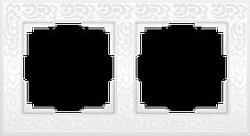Рамка на 2 поста /WL05-Frame-02 (белый)