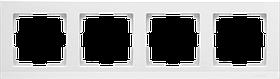 Рамка на 4 поста /WL04-Frame-04-white (белая)