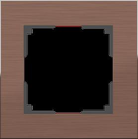 Рамка на 1 пост /WL11-Frame-01 (коричневый алюминий)