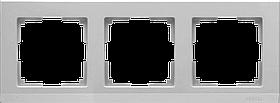 Рамка на 3 поста /WL09-Frame-03 (серебряный)