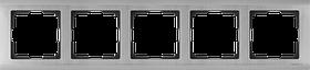 Рамка на 5 постов /WL02-Frame-05 (глянцевый никель)