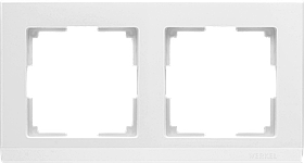 Рамка на 2 поста /WL04-Frame-02-white (белая)