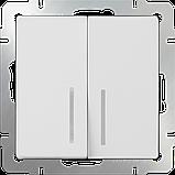 Выключатель двухлавишный /WL01-SW-2G (белый), фото 2