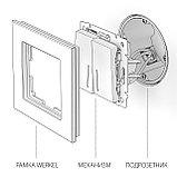Выключатель двухлавишный /WL01-SW-2G (белый), фото 3