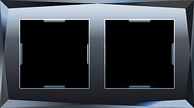 Рамка на 2 поста /WL08-Frame-02 (черный)