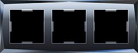 Рамка на 3 поста /WL08-Frame-03 (черный)