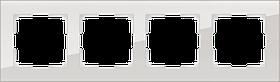Рамка на 4 поста /WL01-Frame-04 (дымчатый, стекло)