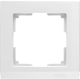 Рамка на 1 пост /WL04-Frame-01-white (белая)