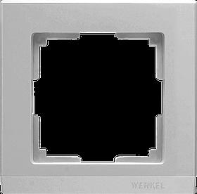 Рамка на 1 пост /WL09-Frame-01 (серебряный)