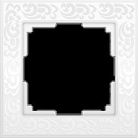 Рамка на 1 пост /WL05-Frame-01 (белый)