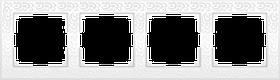 Рамка на 4 поста /WL05-Frame-04 (белый)