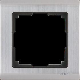 Рамка на 1 пост /WL02-Frame-01 (глянцевый никель)