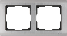 Рамка на 2 поста /WL02-Frame-02 (глянцевый никель)
