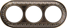 Рамка на 3 поста /WL07-Frame-03 (бронза)