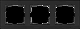 Рамка на 3 поста /WL04-Frame-03-black (черный)