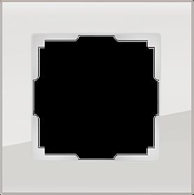 Рамка на 1 пост /WL01-Frame-01 (дымчатый, стекло)