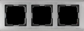 Рамка на 3 поста /WL02-Frame-03 (глянцевый никель)