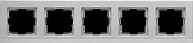 Рамка на 5 постов /WL06-Frame-05 (серебрянный)